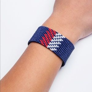 Jewelry - New England Patriots NFL Loom Beaded Bracelet.